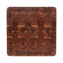 Kwadratowa deska z drewna...