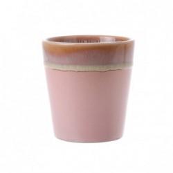Kubek ceramiczny 70's: róż