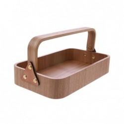 Drewniane pudełko z uchwytem