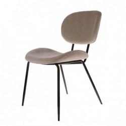 Krzesło do jadalni Rib kremowe