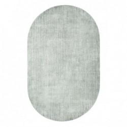 Owalny dywan z wiskozy miętowy