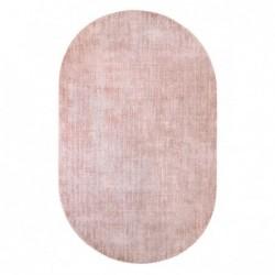 Owalny dywan z wiskozy nude