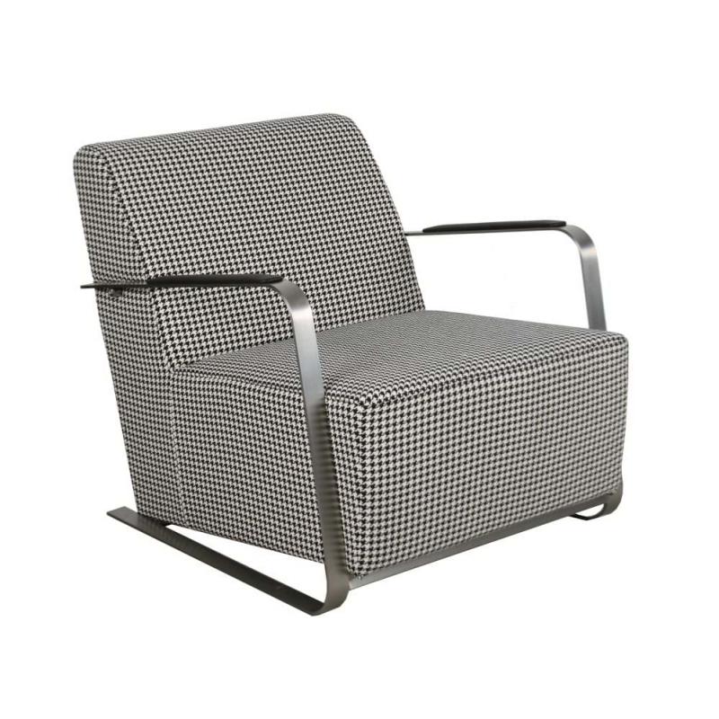 Fotel ADWIN czarno-biały