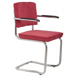 Fotel RIDGE KINK RIB czerwony 21A