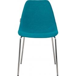 Krzesło FIFTEEN UP chromowane, niebieskie