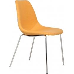 Krzesło FIFTEEN UP chromowane, żółte