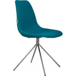 Krzesło FOURTEEN UP chromowane, niebieskie