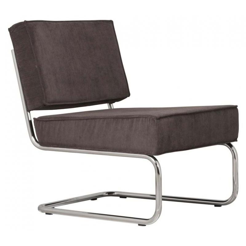 Krzesło Lounge RIDGE RIB szare