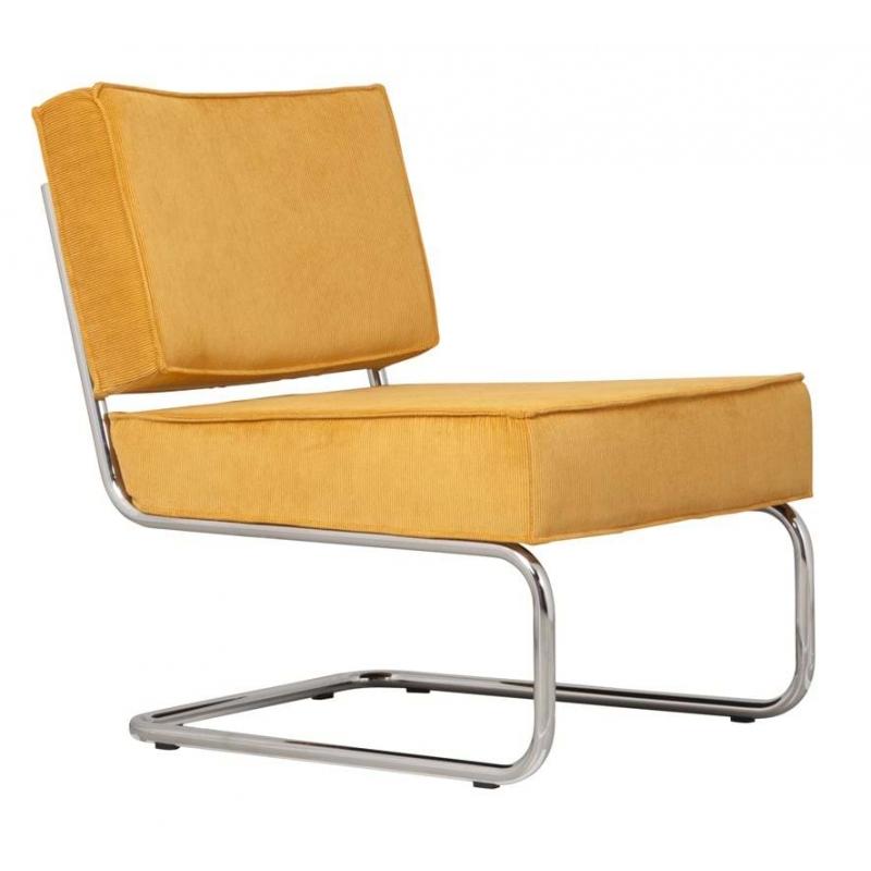 Krzesło Lounge RIDGE RIB żółte