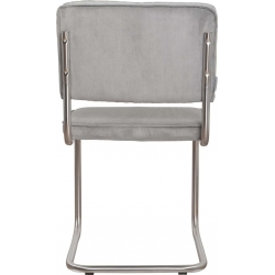 Krzesło RIDGE BRUSHED RIB szare 32A