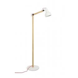 Lampa podłogowa STUDY biała