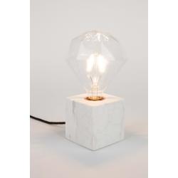 Lampa stołowa BOLCH marmurowa biała