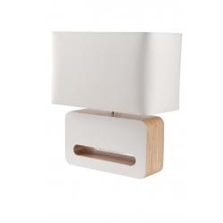 Lampa stołowa WOOD biała