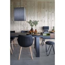 Lampa stołowa WOOD czarna