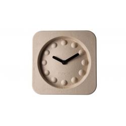 Zegar PULP TIME kwadratowy beżowy