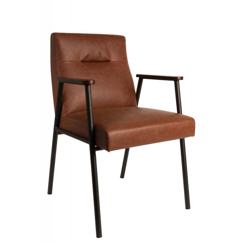 Fotel FEZ brąz vintage