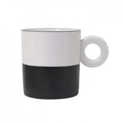 Kubek porcelanowy czarno - biały