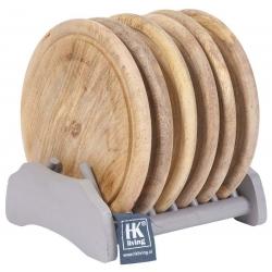 Zestaw drewnianych talerzy (6 szt.)