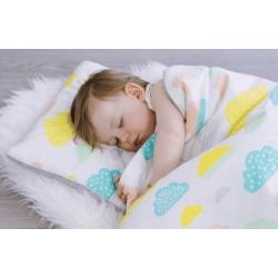 Poduszka bawełniano welurowa Pastelowe Chmurki